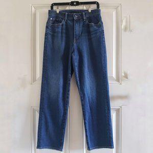 UNIQLO Straight Leg Regular Fit High Rise Jeans